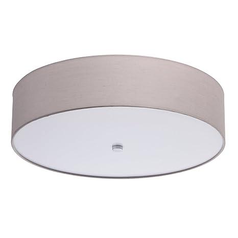 MW-Light 453011501 Lámpara de Techo en Forma Redonda de Tela ...