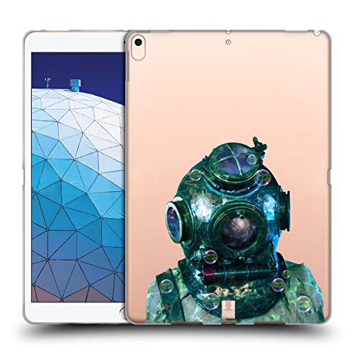 Head Case Designs Diving Helmet Into The Deep Soft Gel Case Compatible for iPad Air ()