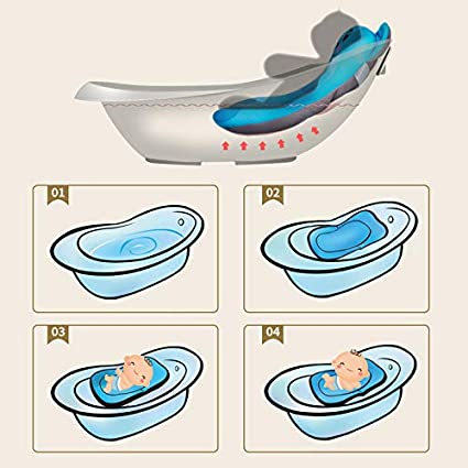 Moonvvin Floating Soft Baby Bath Pillow /& Lounger Newborn Pad Tub Cushion Baby Bather Infant Bath Pad Red