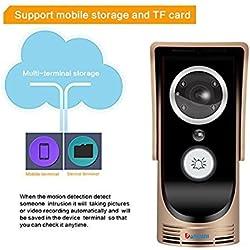 Video Doorbell Camera Doorphone Wireless WiFi Remote Video Intercom System Color Monitor Home Smart Door Video Flush Mounted Outdoor IR Night Vision