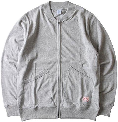 PRESTONSヘビー&タフ COTTON USA ヘビー天竺フルZIPジャケット スタジャンタイプ 3カラー
