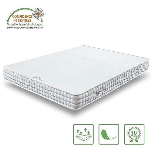 BedStory Colchón Ortopédico de 7 zona Colchón Elástico hipoalergénico Comodidad Firmeza Ajustable en Dureza H2 y H3 extremadamente duradero 135 x 190 x 18cm