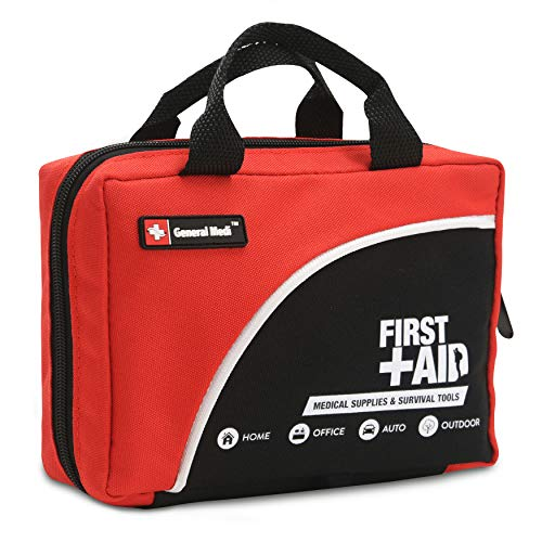 160 Piece Compact First Aid Kit Bag - Including Cold (Ice) Pack, Emergency Blanket,CPR Mask,Moleskin Pad,Perfect for Travel, Home, Office, Car, Camping, Workplace