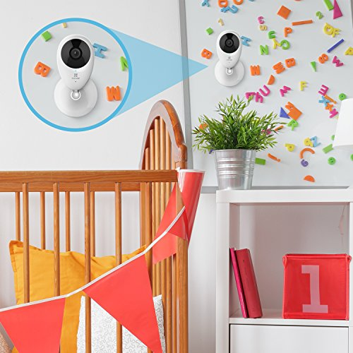 EZVIZ Mini O 720p HD Wi-Fi Home Video Monitoring Security Camera, Works with Alexa - Two Pack by EZVIZ (Image #4)