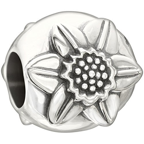 Authentic Chamilia Sterling Silver Charm, Garden Club March, Daffodil 2010-3219 by ASIN