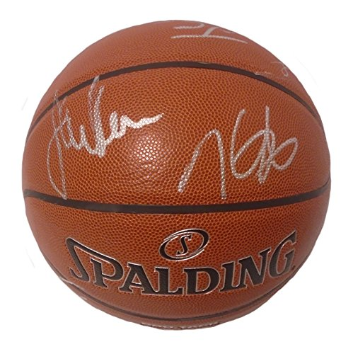 Basketball Signed Team (2016-2017 NBA Champions Golden State Warriors Team Autographed Hand Signed NBA Spalding Basketball with Proof Photos of Signing and COA, Steph Curry, Kevin Durant, Klay Thompson, Steve Kerr)