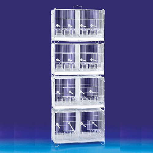 Flyline Lot of 4 Stackable Breeding Bird Cage for Canary Finch Small Birds