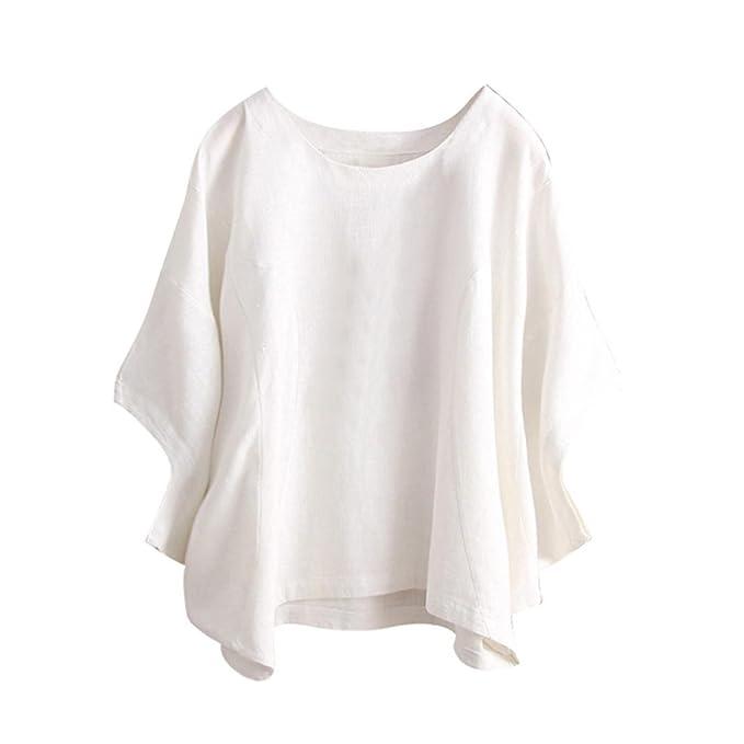 DOGZI Ropa Sólido Camisetas Mujer Camisas Mujer Verano Elegantes Casual Tallas Grandes Estampado Floral Camisetas Mujer Manga Corta Camiseta Blusas Tops ...