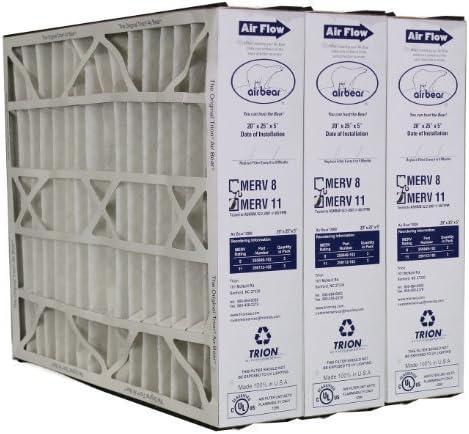 by Glasfloss Industries 3 Pack 20x20x5 Merv 13 Trion Air Bear Repl Filter