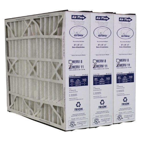 Trion Air Bear 259112-102 MERV 11 Filters (3-Pk) - 20x25x5 by Trion by Trion