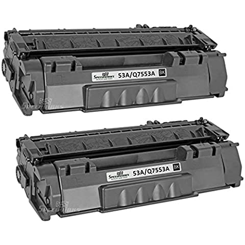 Speedy Inks - 2pk Remanufactured Replacement for HP 53A Q7553A Black Laser Toner Cartridge for use in HP LaserJet P2015, HP LaserJet P2015d, HP LaserJet P2015dn, HP LaserJet - P2015x Laser Printer