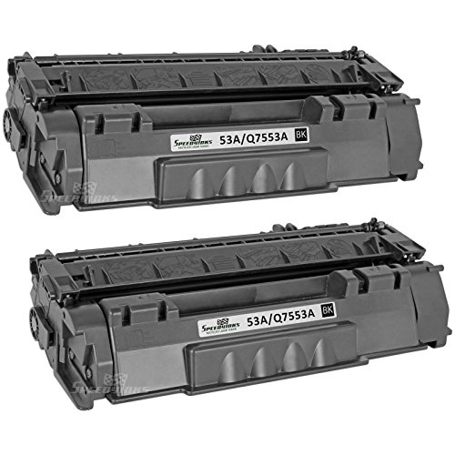 Speedy Inks - 2pk Remanufactured Replacement for HP 53A Q7553A Black Laser Toner Cartridge for use in HP LaserJet P2015, HP LaserJet P2015d, HP LaserJet P2015dn, HP LaserJet P2015x