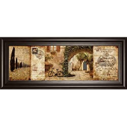 "Classy Art 1166 ""Tuscan Courtyard"" Framed Prints By Keith Mallet"