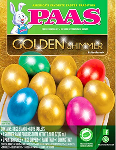 PAAS Egg Decorating Kit Golden Glimmer/Shimmer