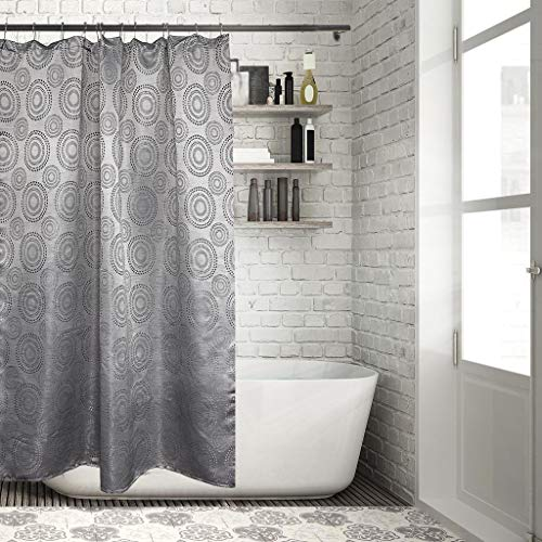 Home Maison Zev Floral Fabric Shower Curtain Liner Water Resistant, 70 x 72, Grey - Maison Grey Rug