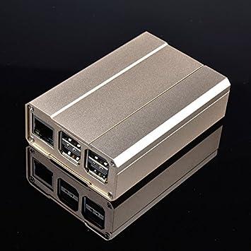 Dorado carcasa de aleación de aluminio para Raspberry Pi 3 ...