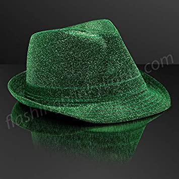 45bb6efe0 Amazon.com: Snazzy Green Fedora Hat (Non-Light Up) by ...
