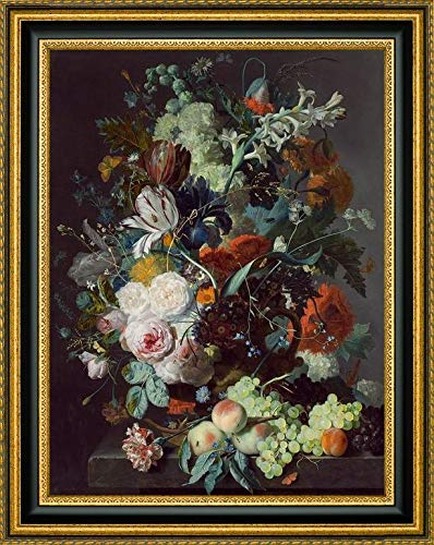 Still Life with Flowers and Fruit by Jan Van Huysum - 16.25