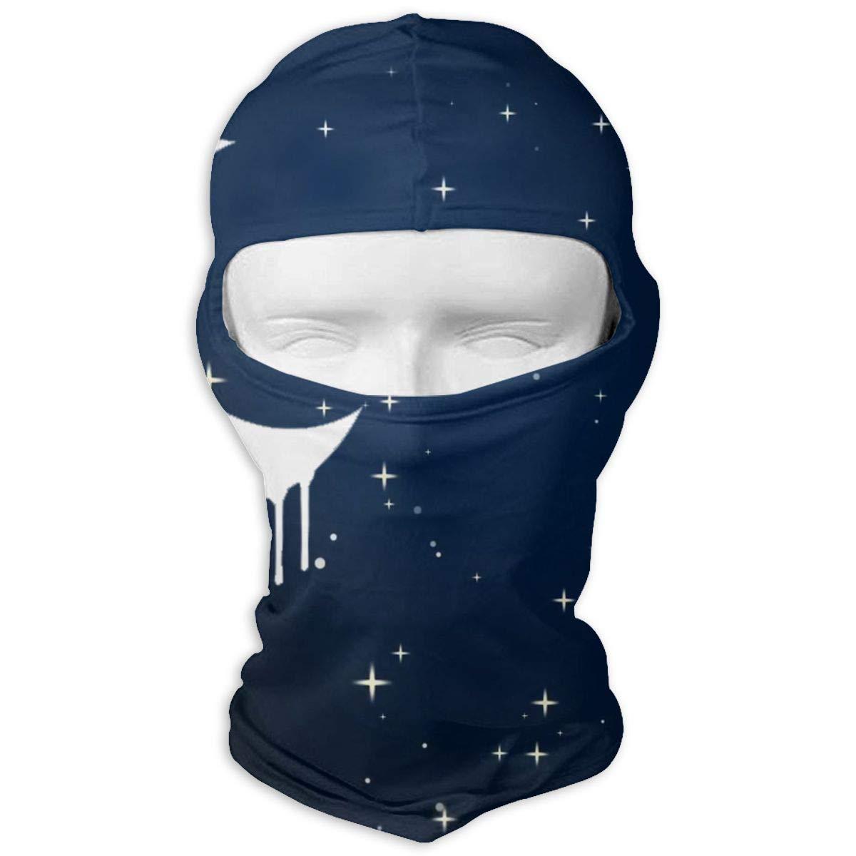 Goth Crescent Moon Full Face Mask Hood for Motorcycle Cycling Bike Hiking Skateboard Balaclava
