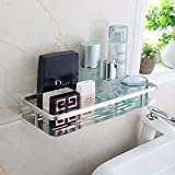 YFXOHAR Magic Sticker Stainless Steel Multi Purpose Bathroom Shelves and Rack Size-32.3 X 13.6 x 9.4 cm