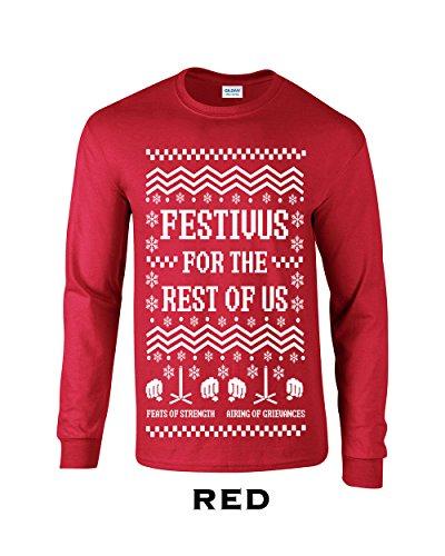 Swaffy Tees Festivus for The Rest of Us Mens Long Sleeve T Shirt (Festivus For The Rest Of Us Shirt)