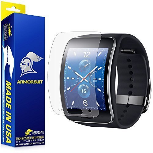 ArmorSuit Samsung Gear S Anti-Glare Screen Protector (2 Pack) Full Coverage MilitaryShield Screen Protector for Gear S - Matte Anti Bubble Film