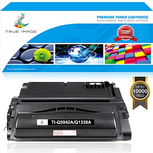 TRUE IMAGE Compatible 1 Pack for HP 42A 38A Q5942A Q1338A Toner Cartridge for HP LaserJet 4250 4200 HP LaserJet 4300 HP LaserJet 4250N HP LaserJet 4200N 4200DTN 4350N 4350TN (42a Laserjet)
