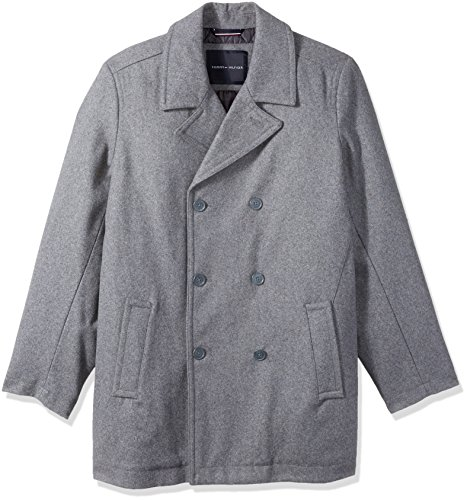 Classic Tall Wool - Tommy Hilfiger Men's Size Wool Melton Classic Peacoat, Light Grey, Long/Tall