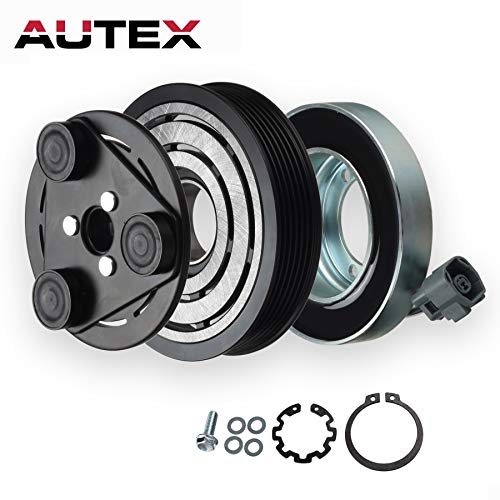 AUTEX AC A/C Compressor Clutch Coil Assembly Kit CO 11308C 97470 GP9A61450D 140443NEW 2022140 TEM255285 Replacement for MAZDA 3 TURBO 2007 2008/MAZDA 6 2006 2007
