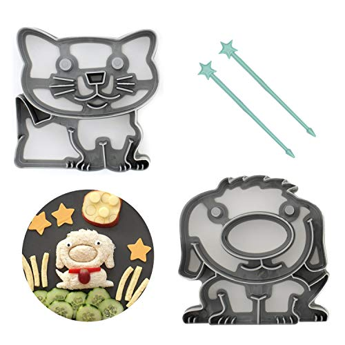 LunchPunch PAWS Sandwich Cutter Set - ORIGINAL SHAPES - Lifetime Replacement Guarantee - BPA FREE - Remove Crusts and Create Fun Bites to Fit in a Kids Bento Lunch Box! ()