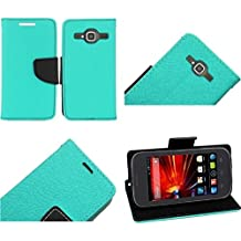 HR Wireless Premium PU Leather Flip Wallet Credit Card Cover Case for ZTE Concord II Z730 - Retail Packaging - Teal