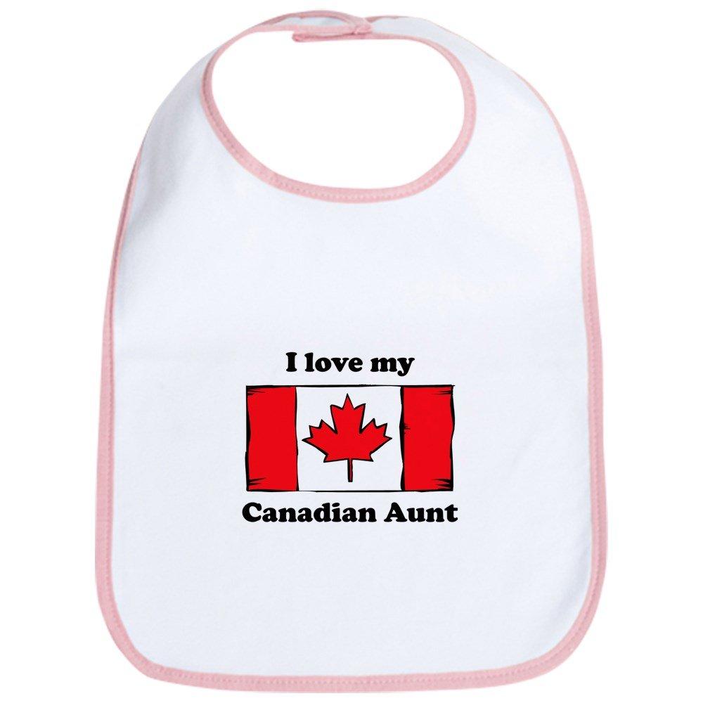CafePress - I Love My Canadian Aunt Bib - Cute Cloth Baby Bib, Toddler Bib