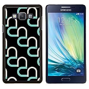Dragon Case - FOR Samsung Galaxy A7 - heart teal black pattern abstract art - Caja protectora de pl??stico duro de la cubierta Dise?¡Ào Slim Fit