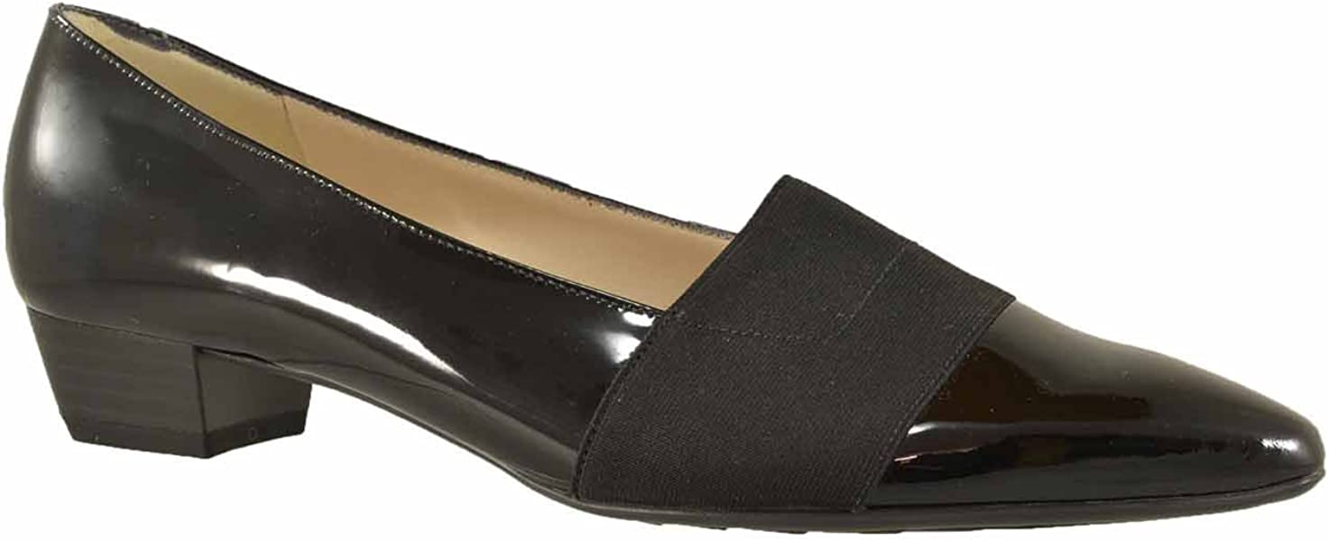 c1a7625c2b1c Peter Kaiser Lagos Pointed Toe Ballet Pumps in Black Patent 5 Black ...