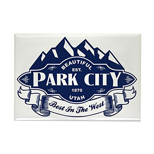 CafePress Park City Mountain Emblem Rectangle Magnet, 2