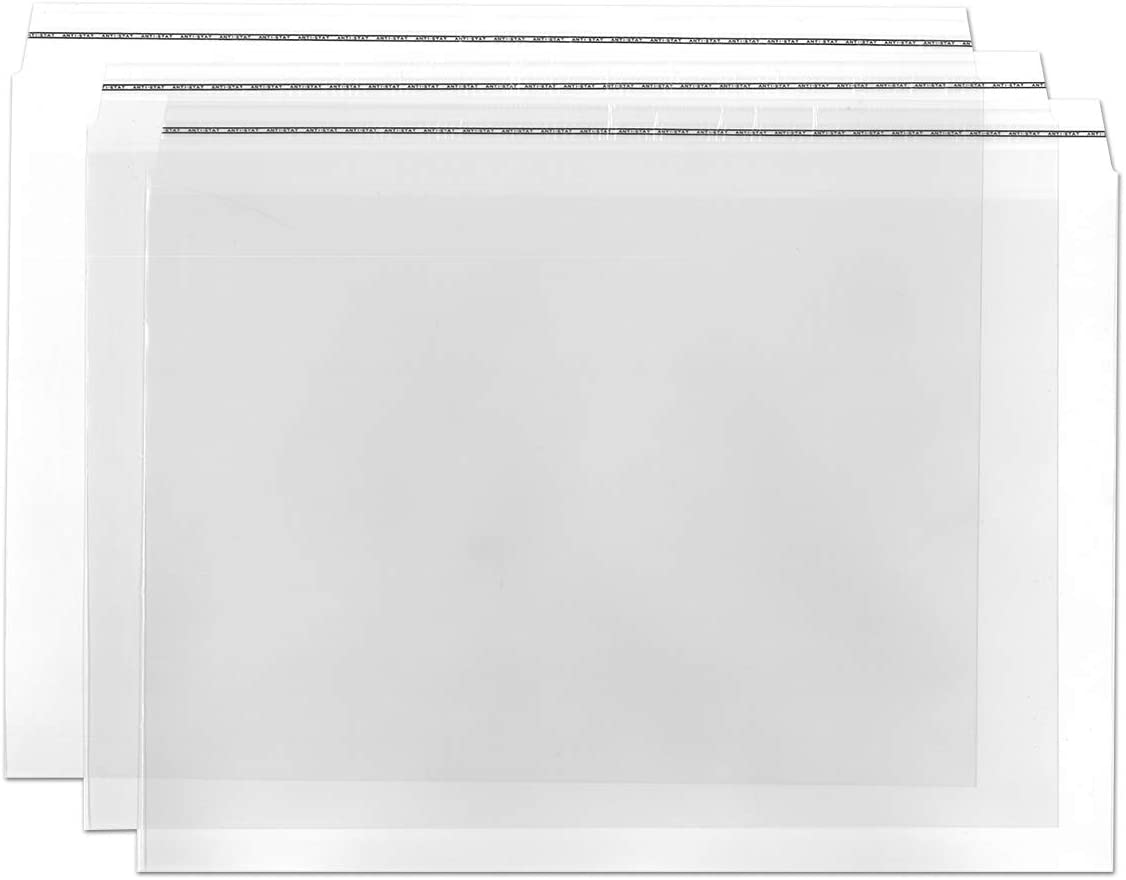 Durchsichtige Briefumschl/äge in DIN C4-25 St/ück ideal f/ür Werbung von Gustav NEUSER Haftklebung glasklare Post-Umschl/äge aus Transparentfolie 32,4 x 22,9 cm Einladungen und Pr/äsente