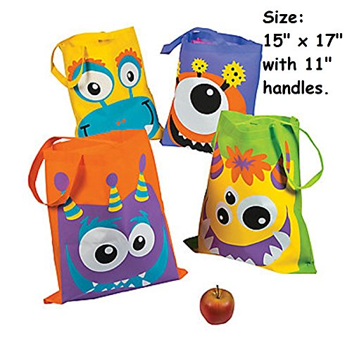 4 ~ Monster Face Tote Bags ~ 15