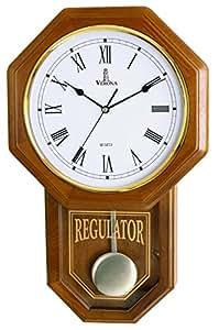 Amazon Com Pendulum Wall Clock Battery Operated Quartz