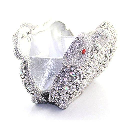 Pour Sac En Diamant Pour à Diamant Silver Lapin Main De Luxe Femme wXq6FrX0