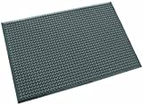 Ergomat Polyurethane Anti-Static Mat, for Dry and Non-Abrasive Areas, 2' Width x 4' Length x 0.62'' Thickness, Anthracite