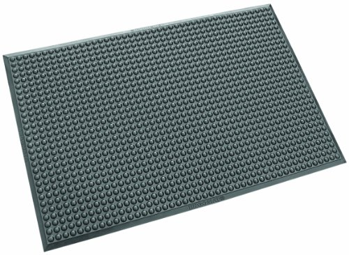 Ergomat Polyurethane Anti-Static Mat, for Dry and Non-Abrasive Areas, 2' Width x 4' Length x 0.62'' Thickness, Anthracite by Ergomat