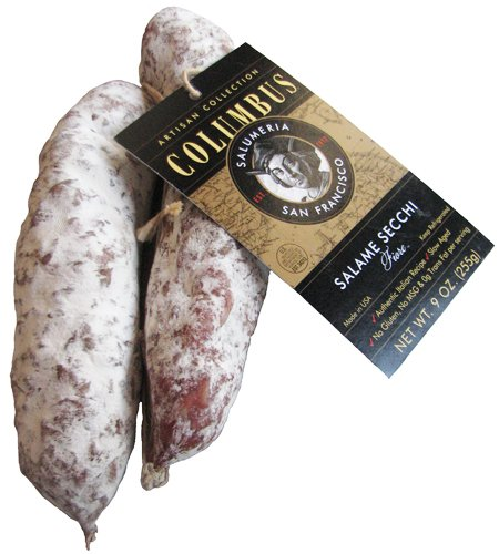 Columbus Salame Company Artisan Salame Secchi Fiore 2 Pack (Approx. 9 Ounce.)