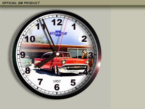 Amazon Com 1957 Chevrolet Chevy Bel Air Wall Clock E028