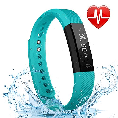 LETSCOM Fitness Tracker HR, Bluetooth Fitness Watch with Heart Rate...