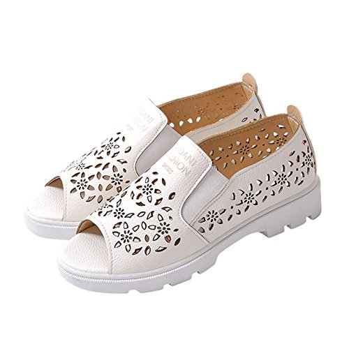Show Shine Womens Fashion Sweet Scarpe Casual Mocassini Scarpe Bianche