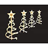 18 in. Clear Spiral Tree Pathway Christmas/Seasonal Lights (Set of 4) (1)