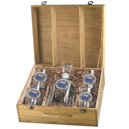 (Pewter Middle Tennessee State University Capitol Decanter Box Set)