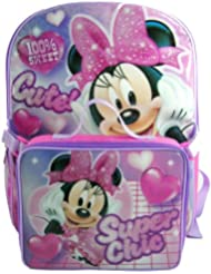 Disney Minnie Mouse 16 Backpack with Detachable Lunch Kit