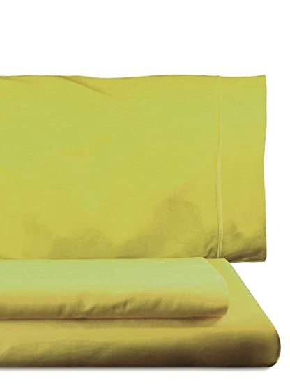 Home Royal - Juego de funda nórdica, 190 x 260 cm, bajera ajustable, 108 x 200 cm, funda para almohada, 45 x 130 cm, color lima