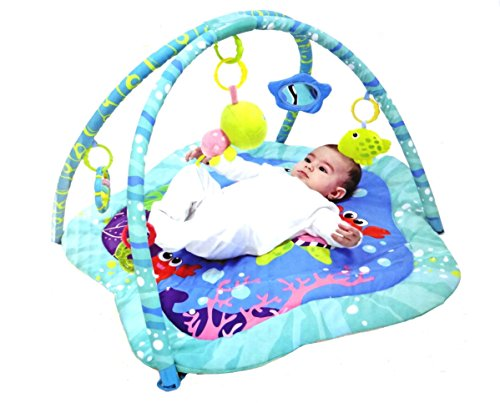 Mastela Funny Ocean Baby Activity Colorful Play Gym Padded Play Mat – For Baby Infants & Toddlers